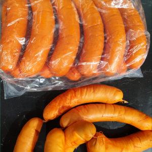Cervelas fumée - Les Sentiers d Afrique Chez Chantal - Boucherie spécialisée viande fumée Bruxelles
