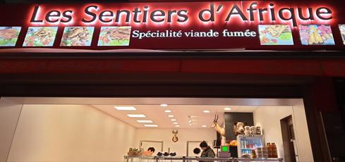 Cliente achat viande fumée Les Sentiers d Afrique