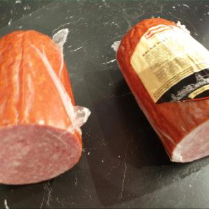 Salami à l'ail - Les Sentiers d Afrique Chez Chantal - Boucherie spécialisée viande fumée Bruxelles
