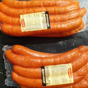 Saucisses non piquantes - Les Sentiers d Afrique Chez Chantal - Boucherie spécialisée viande fumée Bruxelles