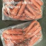 Saucisses sèches piquantes